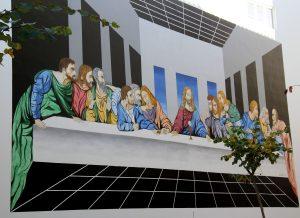 mural ultima cena que ver en Estepona