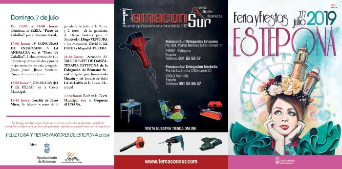 Programa de la feria de Estepona 2019 1