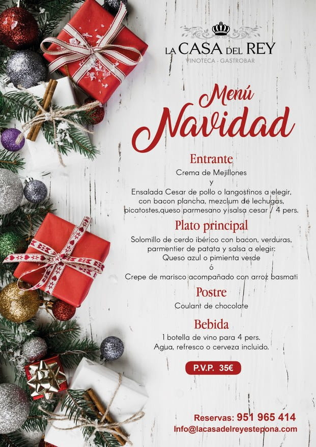 Cena de navidad Casa del Rey Estepona 2019 01