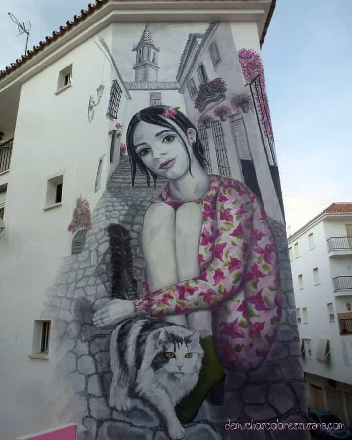Mural de Susana Velasco, Estepona se viste de flores